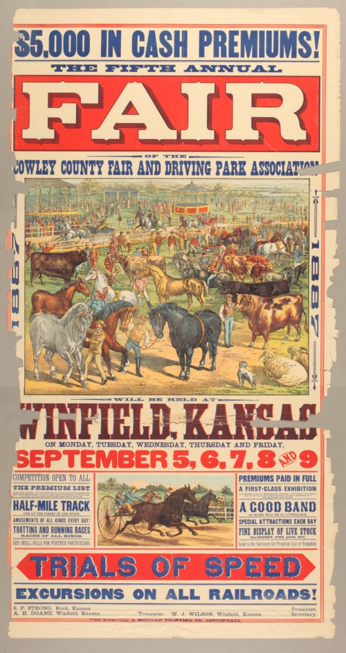 The fifth annual fair of the Cowley County Fair and Driving Park Association - Page