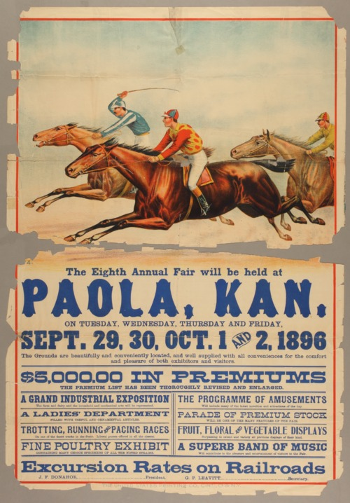 The eighth annual fair will be held at Paola, Kansas - Page
