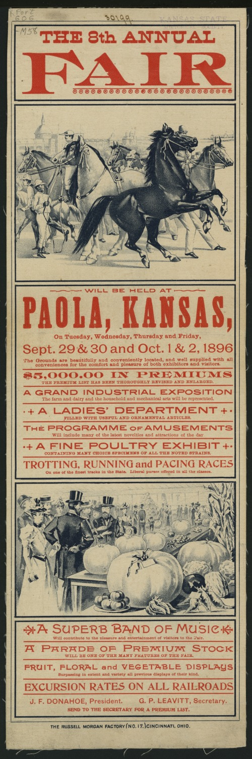 The 8th annual fair will be held at Paola, Kansas - Page