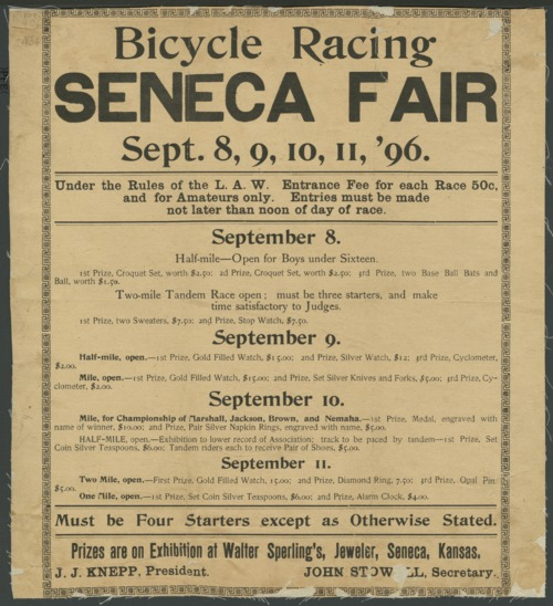 Bicycle racing. Seneca fair - Page