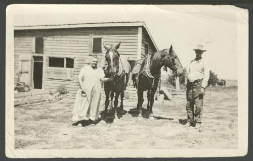Chris and Ellen Nicholson on their farm near Jennings, Kansas - Page