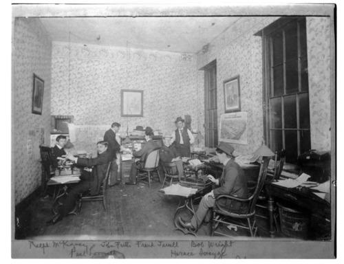 Topeka Daily Capital, office interior, Topeka, Kansas - Page