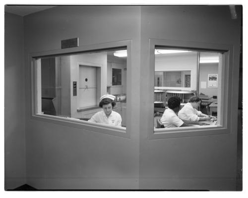 Nursing station at Menninger Clinic in Topeka, Kansas - Page