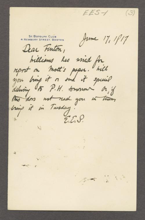 Elmer Ernest Southard correspondence - Page