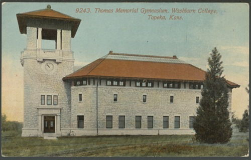 Thomas memorial gymnasium at Washburn College in Topeka, Kansas - Page