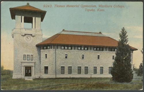 Thomas memorial gymnasium at Washburn College in Topeka, Kansas - Page