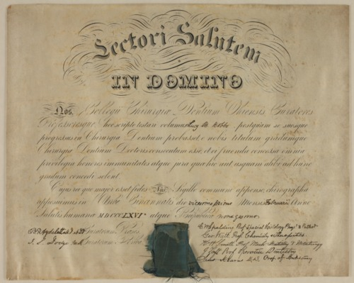 Lucy Hobbs Taylor's diploma - Page