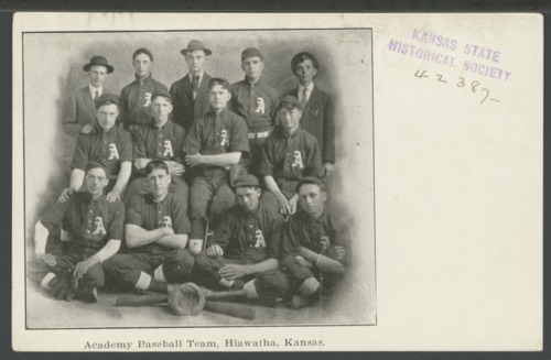 Academy baseball team, Hiawatha, Kansas - Page