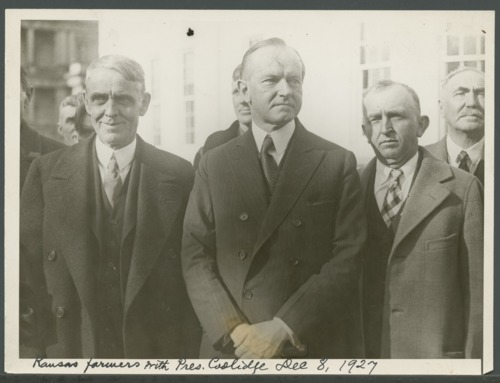 Kansas farmers with President Coolidge in Washington, D. C. - Page
