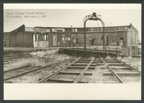 Chicago, Rock Island and Pacific Railroad roundhouse at Herington, Kansas - Page