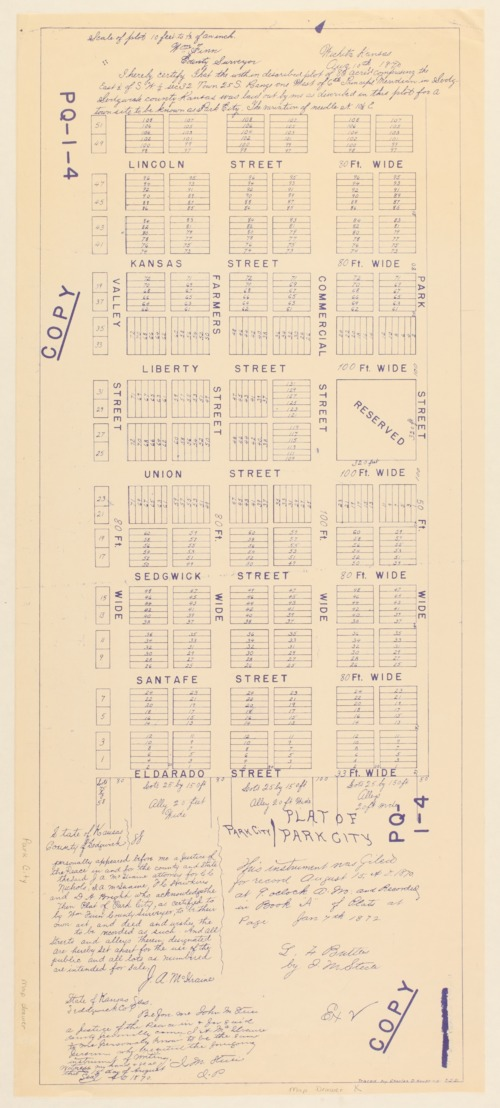 Plat of Park City, Kansas - Page
