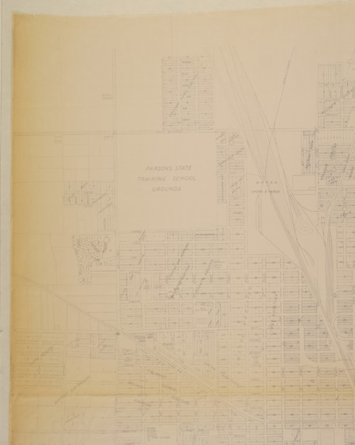 Map of city of Parsons, Kansas - Page