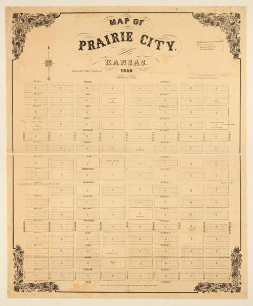 Map of Prairie City, Kansas - Page
