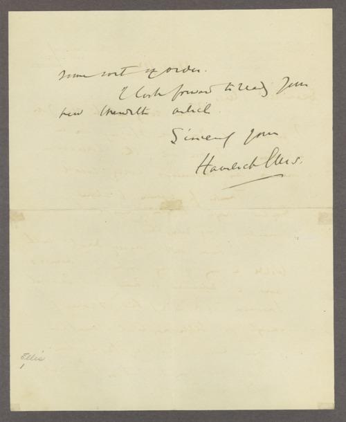 Henry Havelock Ellis papers - Page