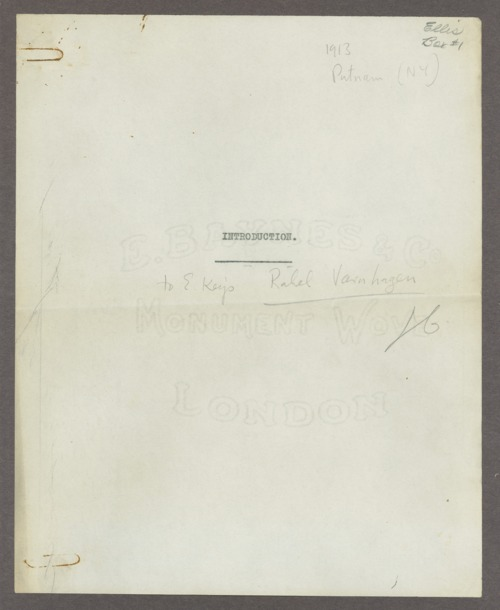 Henry Havelock Ellis papers - Page