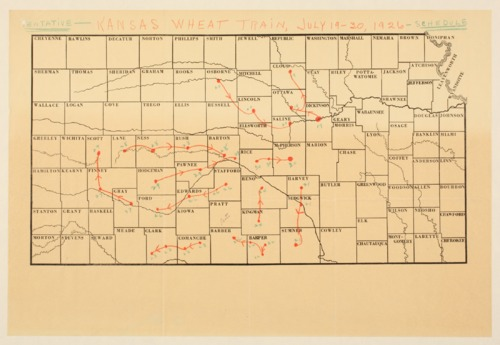 Kansas wheat train stops - Page