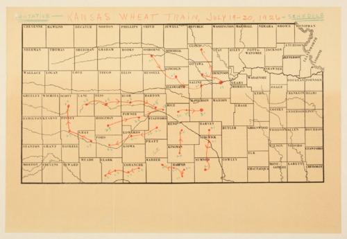 Kansas wheat train stops - Page