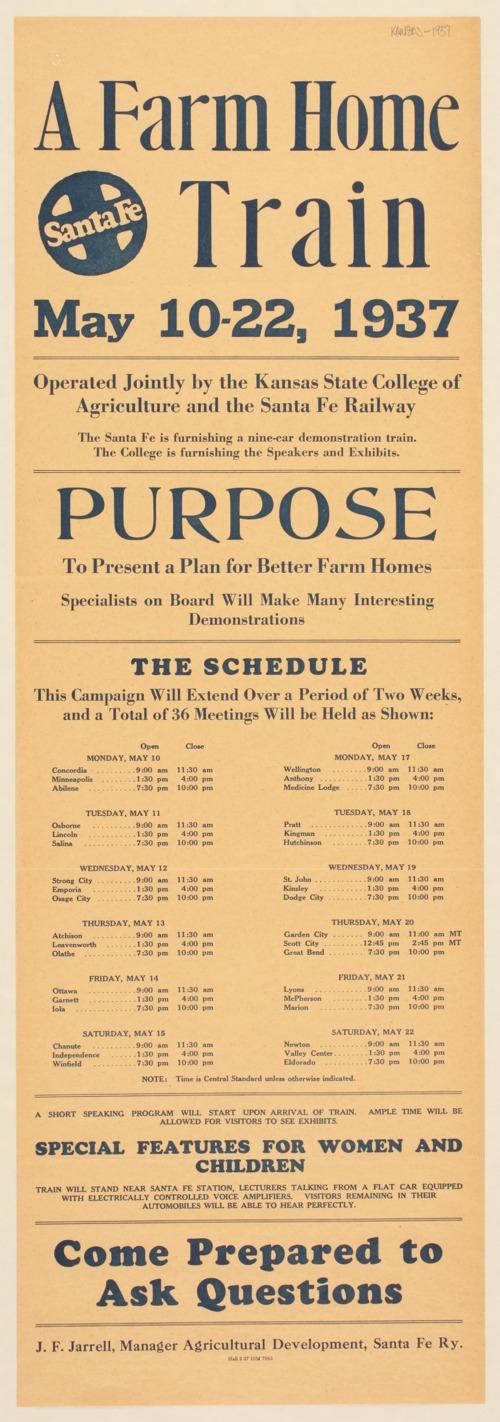 Santa Fe. A farm home train - Page