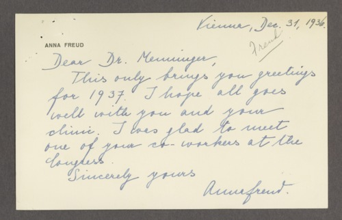 Anna Freud correspondence - Page
