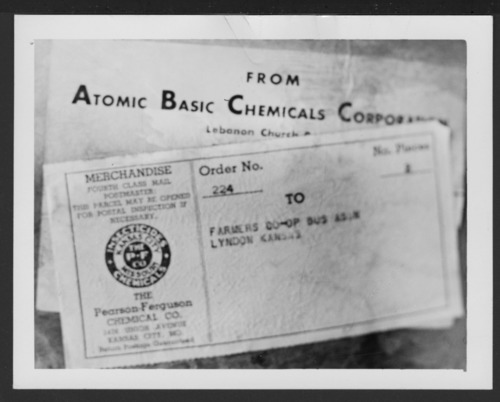 Atomic Basic Chemicals Corporation label - Page