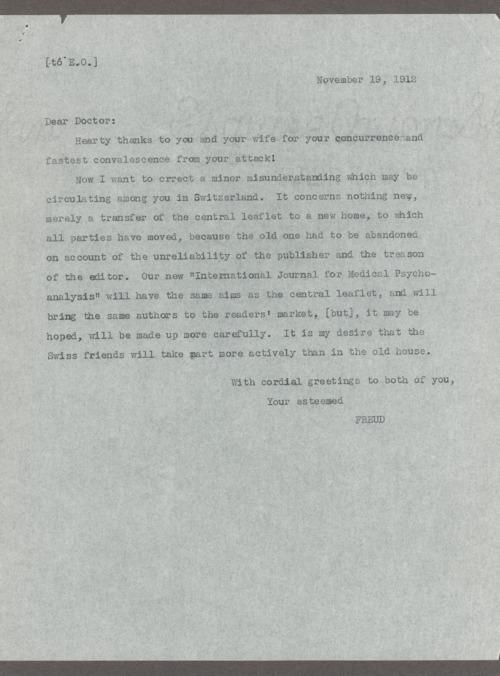 Sigmund Freud correspondence - Page