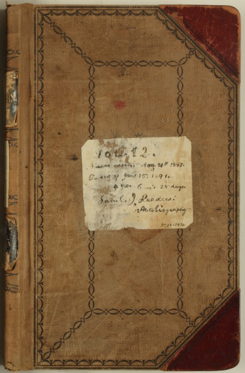 Samuel Reader's diary, volume 12 - Page
