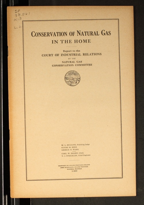 Conservation of natural gas in the home - Page