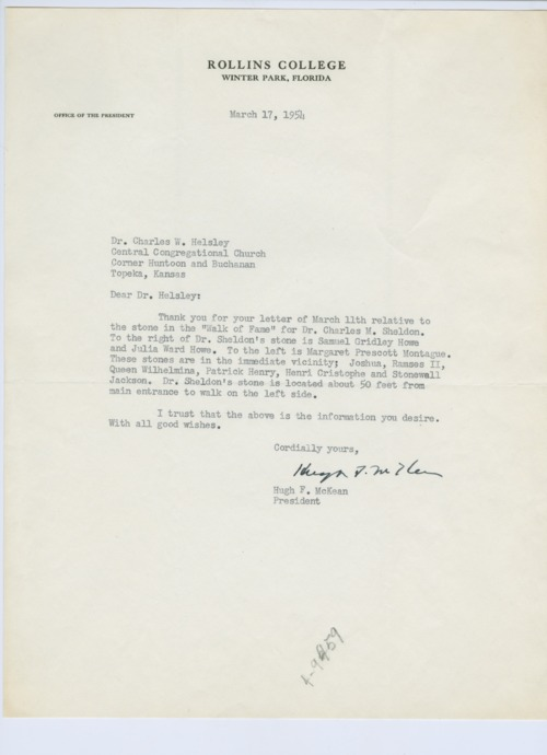 Letter from Hugh F. McKean to Dr. Charles W. Helsley - Page