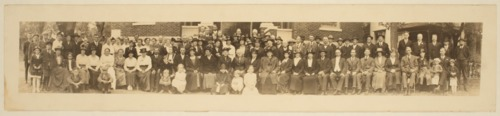 Group in front of First Swedish Baptist Church, unknown location - Page
