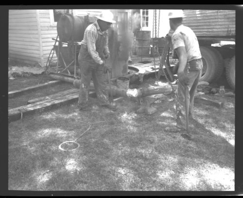 Drilling a water well on the Funston property - Page