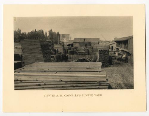 A H Connelly S Lumber Yard Topeka Kansas Kansas Memory