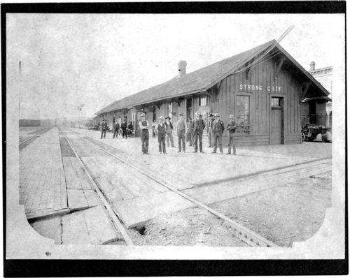 Atchison, Topeka and Santa Fe Railway Company depot, Strong City, Kansas - Page