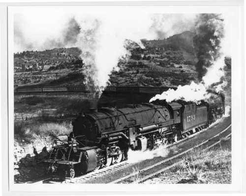 Atchison, Topeka & Santa Fe Railway Company's the Chief, Raton Pass - Page