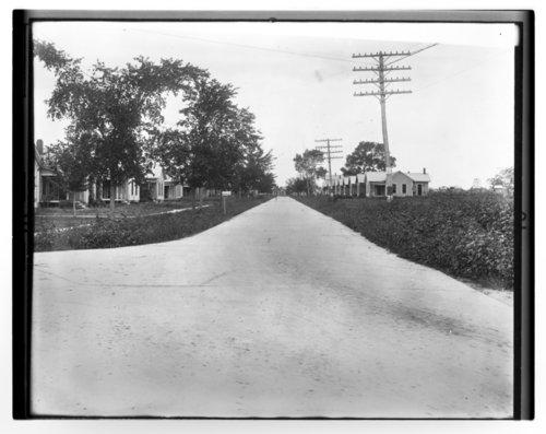 Street scene in Bassett, Allen County, Kansas - Page