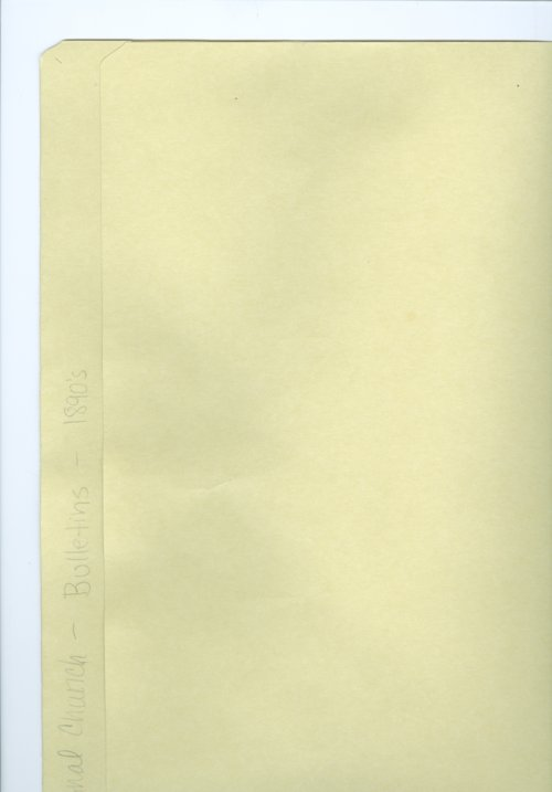 Central Congregational Church bulletins - Page