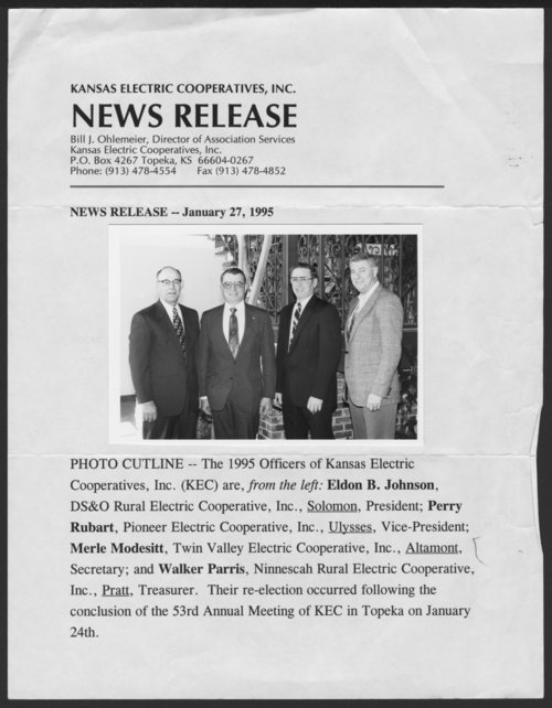 Officers of the Kansas Electric Cooperatives, Inc. - Page