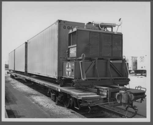 Atchison, Topeka & Santa Fe Railway Company's refrigerated container, Corwith Yards - Page