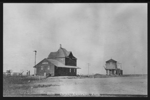 Chicago, Rock Island and Pacific Railroad Depot, Kanorado, Kansas - Page