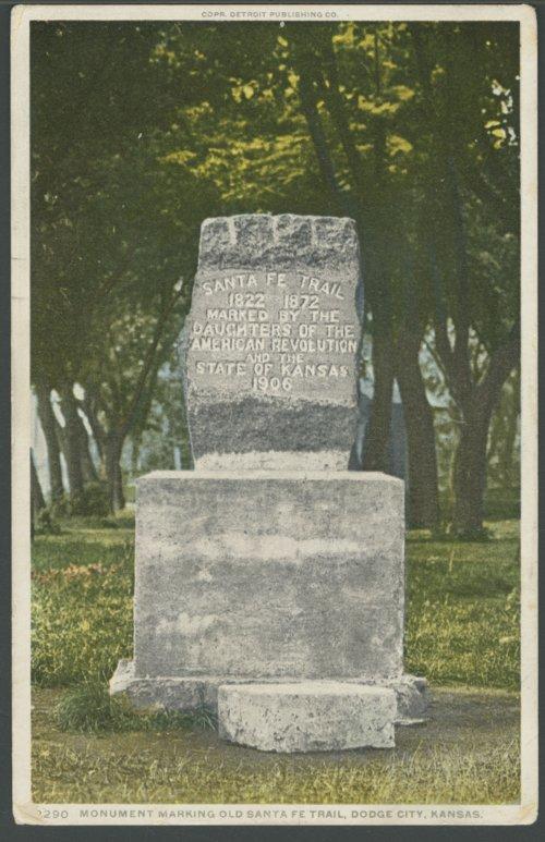 Santa Fe Trail monument, Dodge City, Kansas - Page