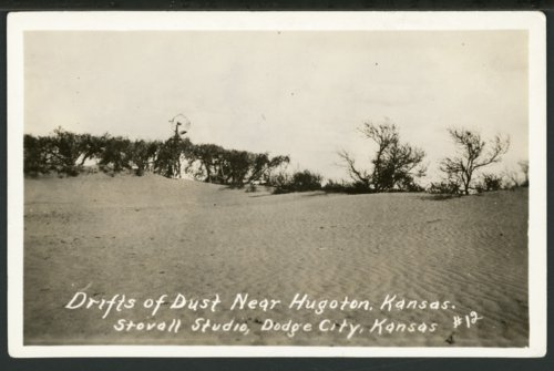 Drifts of dust, Hugoton, Kansas - Page
