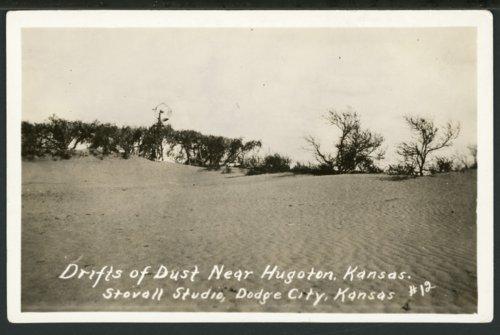 Drifts of dust, Hugoton, Kansas - Page
