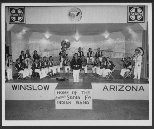 Atchison, Topeka and Santa Fe Railway Company band, Winslow, Arizona - Page