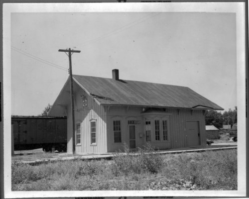Atchison, Topeka and Santa Fe Railway Company depot, Harveyville, Kansas - Page