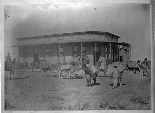 Pack train, Arkalon, Kansas - Page