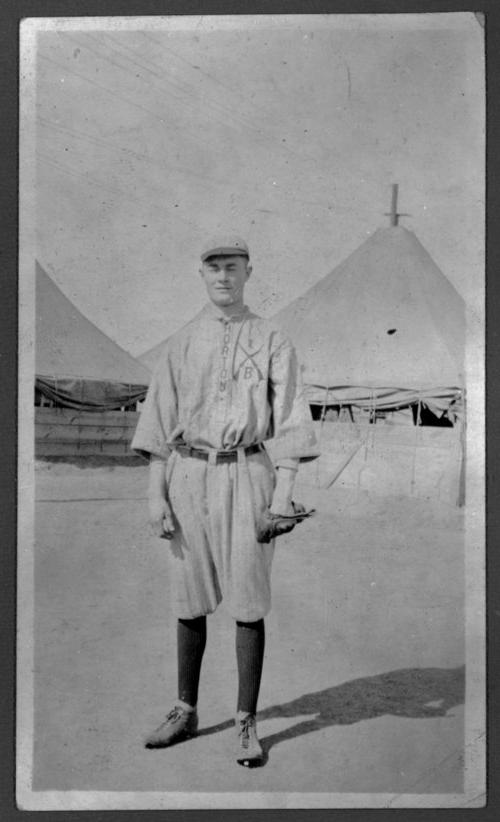 Virgil Barnes in Horton baseball uniform in Horton, Kansas - Page