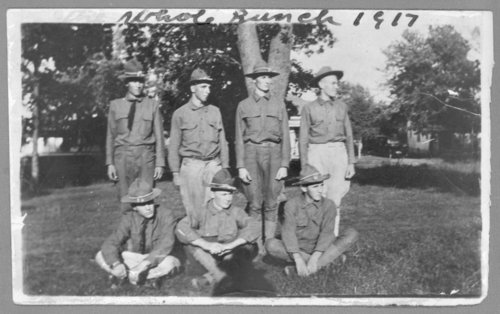 Virgil Barnes and members of Company B, Second Kansas Regiment, from Jackson County, Kansas - Page
