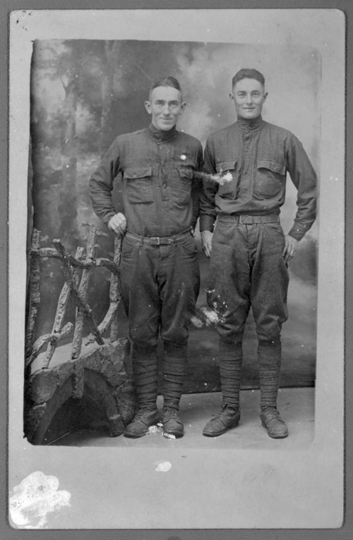 Virgil Barnes and fellow World War I soldier - Page