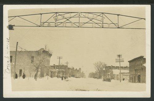 Snow on Main street in Garden City, Kansas - Page