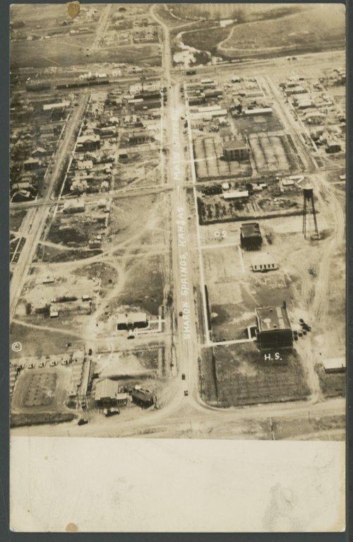 Aerial view of Sharon Springs, Kansas - Page