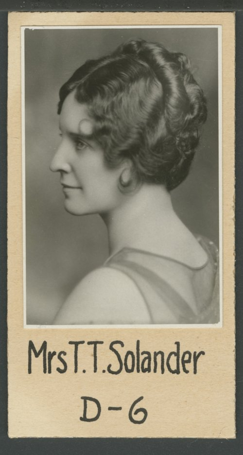 Patricia (Mrs. T. T.) Solander - Page